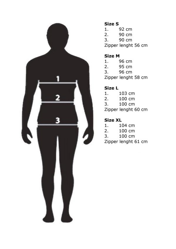 marwe wind jammer size chart